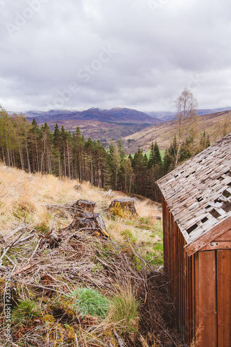 Foto Murales View from an old Scottish Bothy