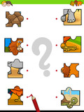 match jigsaw puzzles educational game - 233589684