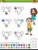 maths calculation educational task for kids - 233589828