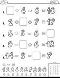 calculation educational task for children - 233589851