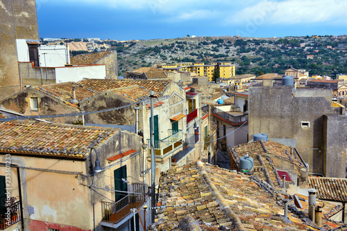 mata magnetyczna panorama of the historic center of Modica Sicily Italy