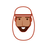 head of man arab avatar character - 233602693