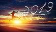 Leinwandbild Motiv Frohes neues Jahr 2019!