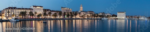 Historic city center in Split. This is a UNESCO heritage. Croatia - 233611409
