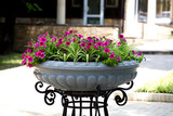 street flowerbed, flower pot with forged iron stand © Exclusive Dn