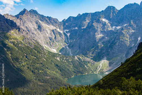 Lake Morskie Oko in Tatra Mountains, Poland