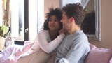 Couple in pajamas spending time together at home - 233617852