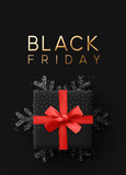 Black Friday Sale. Banner, poster, logo golden color on dark background. © lauritta