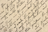 Handwritten english text Digital paper texture background - 233629862