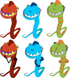 evil worm funny character