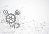 Abstract gear wheel mechanism background. Machine technology. Vector illustration - 233667430