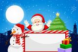 Santa and holiday themed blank frame - 233670029