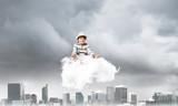 Little boy keeping mind conscious. - 233708616