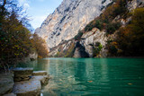 Natural reserve of the Furlo Gorge in the Marche, Italy - 233715291