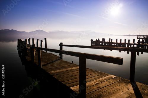 Acrylglas Pier Lake Massaciuccoli in Versilia