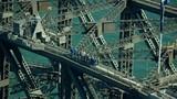 Aerial view of people on Sydney Harbor Bridge climb Australia - 233723687