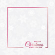 Merry Christmas and Happy New Year. Greeting, Invitation or Menu cover. Vector illustration with empty frame - 233727824