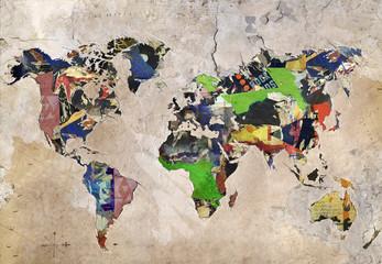 Carte du monde - créativité
