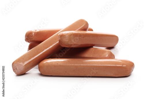 Leinwandbild Motiv Hot dog isolated on white