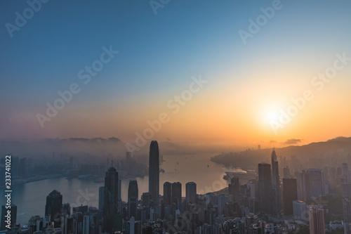 Foto Murales Hong Kong sunrise