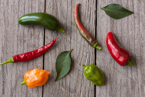 Mixed hot peppers - 233761099