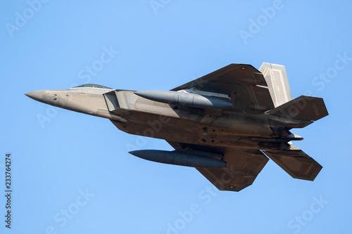 fototapeta na ścianę American stealth air superiority fighter jet plane