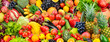 Leinwanddruck Bild - Assorted fresh ripe fruits and vegetables. Food concept background.