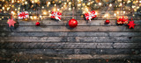 Christmas rustic background with wooden planks - 233771658