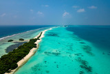 Maldives aerial view panorama landscape white sand beach - 233779239