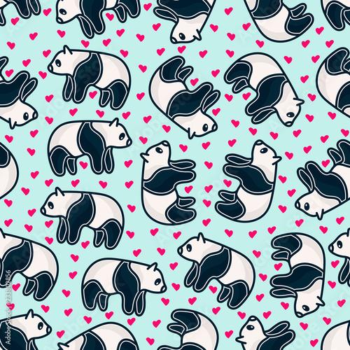 fototapeta na ścianę Panda pattern background