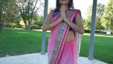 Meditating Woman Folded Hands In Namaste, Yoga Gratitude Pose - 233807478