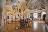 The interior of the rural Russian Church 1868. - 233816838