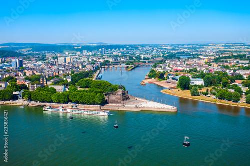 Foto Murales Koblenz city skyline in Germany