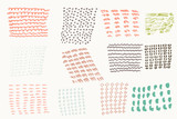 Set of vector hand drawn textures - 233837075