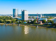 Leinwandbild Motiv Bonn aerial panoramic view, Germany