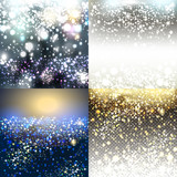 Christmas vector pack of shiny blurred backgrounds - 233842606