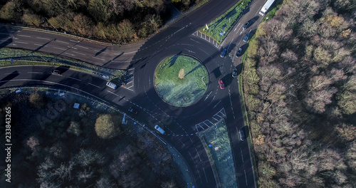 Aerial View of a Roundabout - 233843265