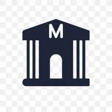 Museum transparent icon. Museum symbol design from Museum collection. - 233846882