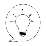 Big idea symbol in black and white - 233848829