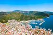 Leinwanddruck Bild - Marmaris city view in Turkey