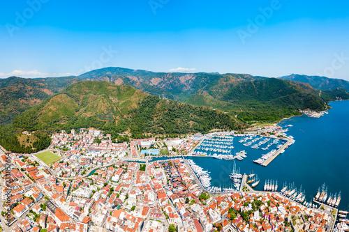 Leinwanddruck Bild Marmaris city view in Turkey