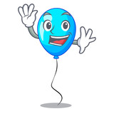 Waving blue balloon character on the rope - 233858826