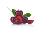 red cherry isolated on white background