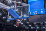 Basketball hoop in a professional basketball arena. - 233869443