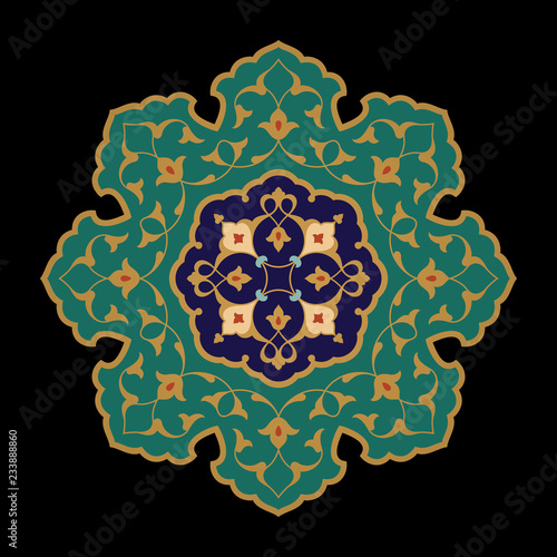 Arabic Floral Ornament. Tezhip