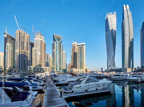 fototapeta na ścianę Dubai marina skyline in United Arab Emirates