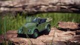 Toy car GAZ 69 green 4x4