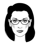 Female full face head with glasses - 233901650
