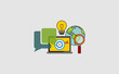 icon, button, internet, business, symbol, computer, web, illustration, sign, isolated, communication, phone, technology, 3d, online, mobile, blue, shopping, icons, apps, white, telephone, concept, des