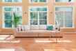 Leinwandbild Motiv Sectional sofa in a large luxury interior home